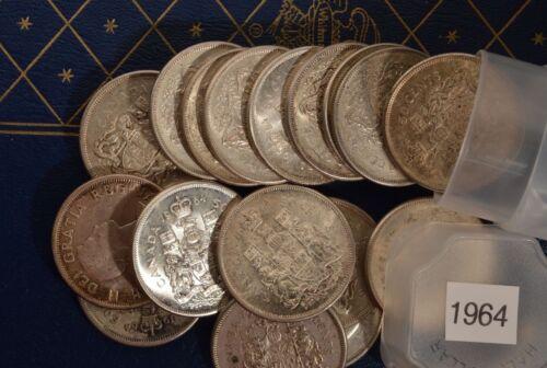 1964 CANADA Silver Half Dollar Random pick from roll Circulated