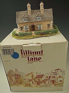 LILLIPUT-LANE-BOW-COTTAGE-1992-MINIATURE-MASTERPIECES-WITH-DEED-NM-CONDITION