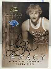 Larry Bird 2011-12 UD Exquisite Legacy on-card Auto #'d 7/15 - BOSTON CELTICS