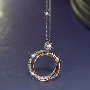 18k-white-yellow-rose-gold-gf-simulated-diamond-3-ring-pendant-chain-necklace