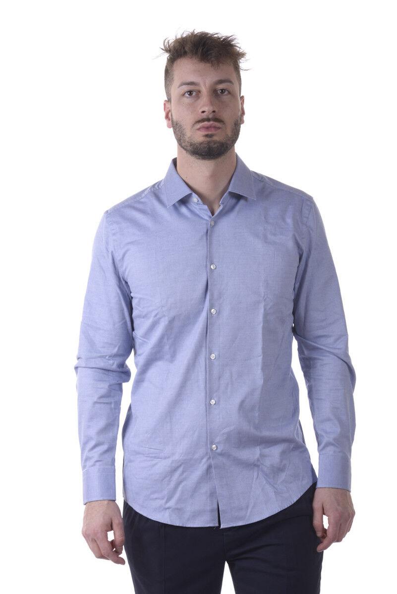 Camicia Hugo Boss Shirt Shirt Shirt SLIM FIT Uomo Blu 50322543430 e529c4