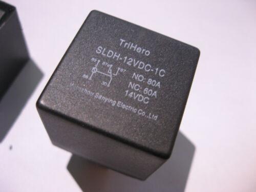Relay Plug-In 12VDC SPDT TriHero SLDH-12VDC-1C 80A 60A Auto Winch etc NEW Qty 2