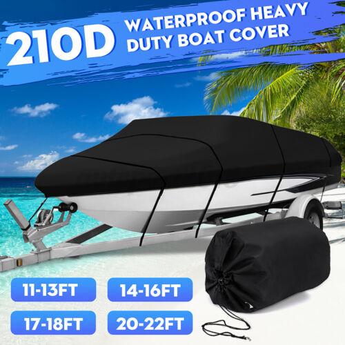 210D Telo Copribarca Nero Copri Barca Impermeabile Protezione Uv 11-22ft