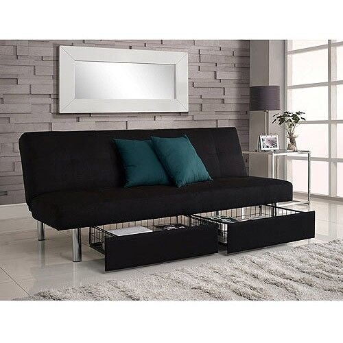 Microfiber Fold Down Futon Sofa Bed Couch Sleeper Furniture Lounge Convertible