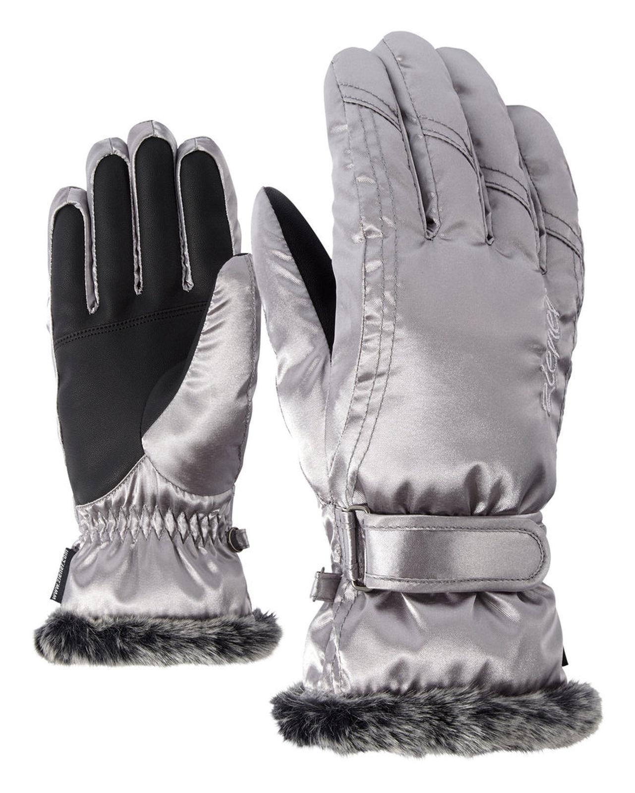 Ziener Damen Skihandschuhe Winterhandschuhe Kim Thermoshield silber 801117 166