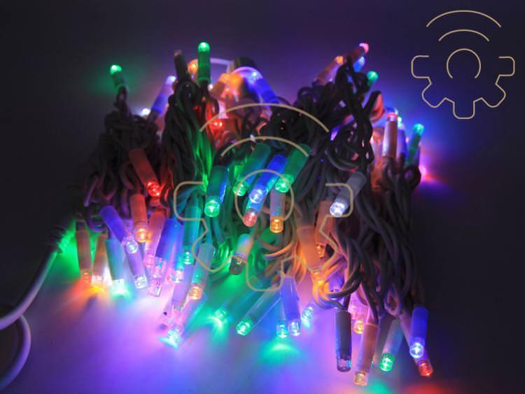 Serie 200 luci di Natale a led Rgb multiColoreeee 20 20 20 mt catena con flash per estern 09e571