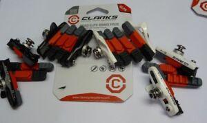BRAKE-BLOCKS-Clarks-ELITE-CPS240-Road-bike-Bicycle-Triple-compound-2-PAIR