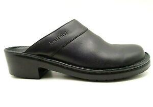 Josef-Seibel-Black-Leather-Slide-Comfort-Clog-Mules-Shoes-Women-039-s-40-9-9-5