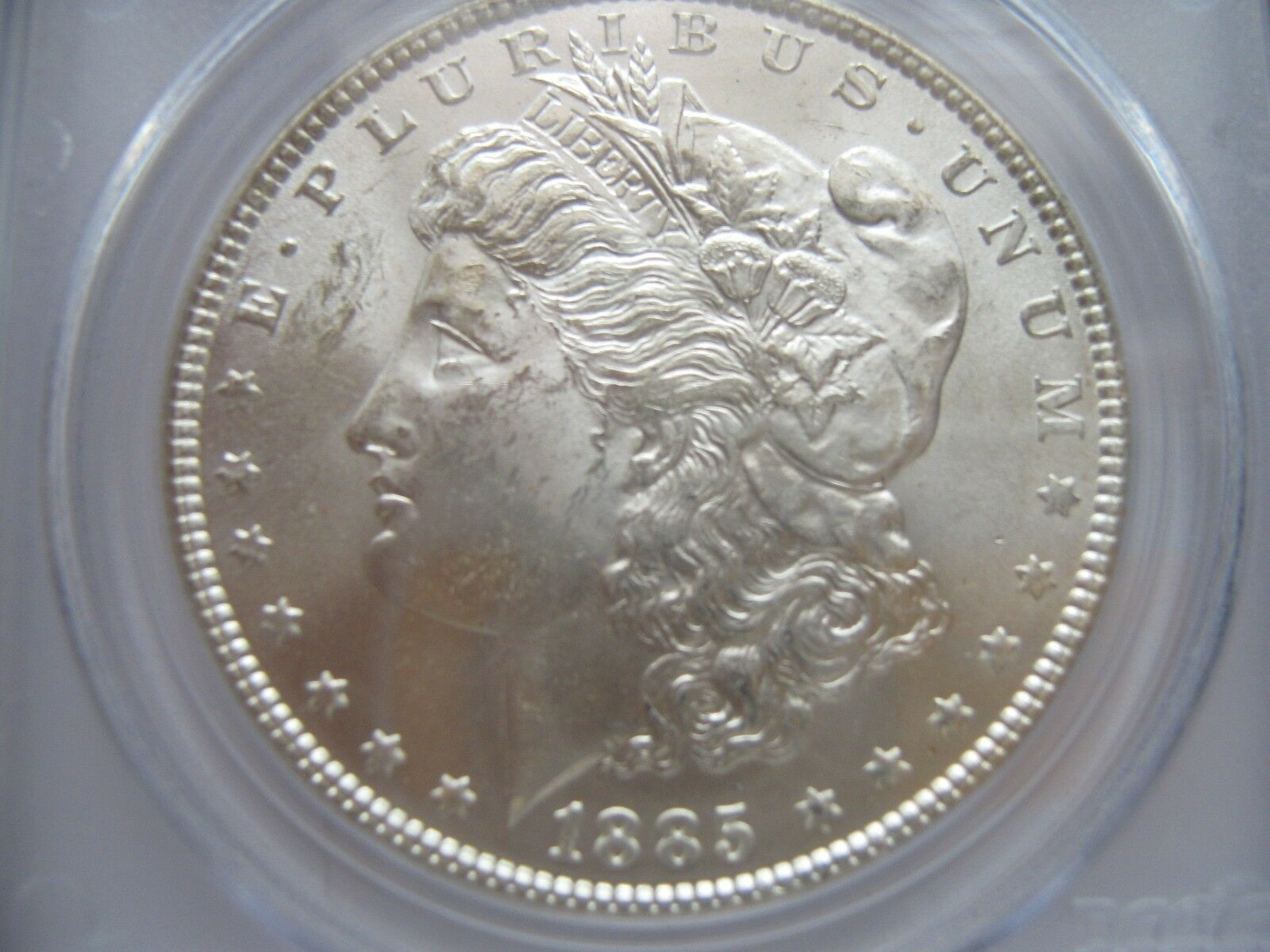 1885 , Morgan Silver Dollar , PCGS , MS63