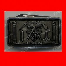 SWISS»PEWTER STYLE MASONIC ARMY KNIFE MONEY CLIP,MASON,FREEMASON MASTER GIFT! EX