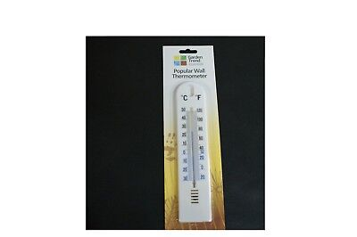 Formulaone White Plastic Wall Hung Thermometer Outdoor Garden Garage Indoor House Office Room Garden Greenhouse Thermometer-white