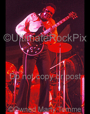 FREDDIE KING Photo 1973 Concert Photo by Marty Temme 1B Gibson 345 Blues Legend