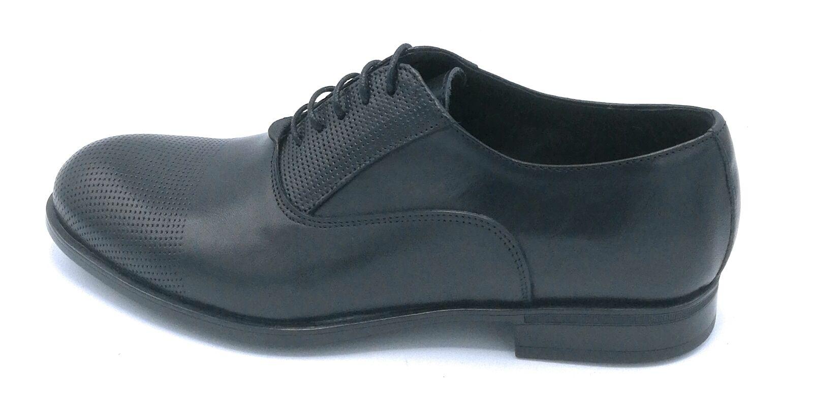 Exton 1381 Zapato Abrochado Microporo Cuero Negro Microporo