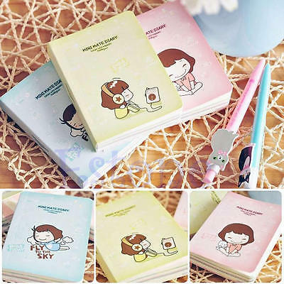 1Pc Mini Cute Cookie Girl Diary Tiny Memo Free Note Pocket Planner Notebook Gift