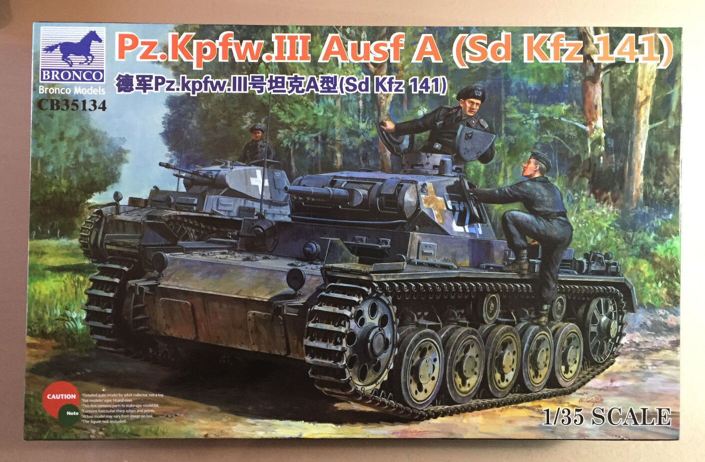 BRONCO MODELS CB35134 - Pz.Kpfw.III Ausf A (Sd Kfz 141) - 1 35 PLASTIC KIT