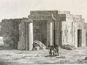 Africa-Nubia-Sudan-Egypt-Temple-Semne-Fortress-Semna-Sudan-Engraving-XIX-Th