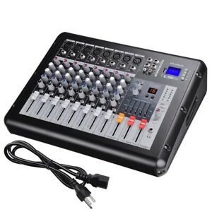 Professional-Power-Mixer-Amplifier-Amp-8-Channel-USB-16DSP-LCD-Recording-Studio