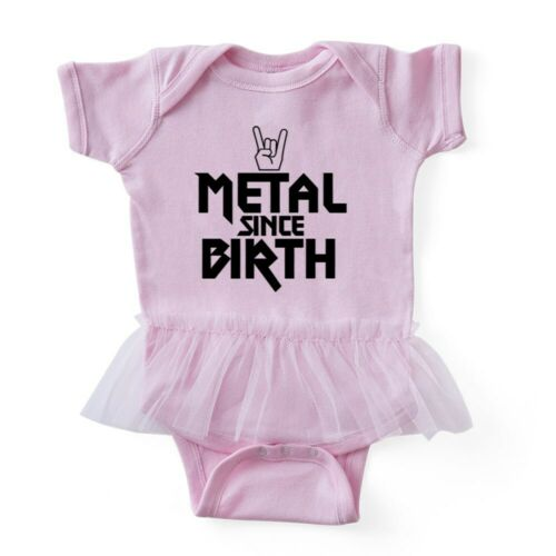 CafePress Metal Since Birth Baby Tutu Bodysuit 324164889