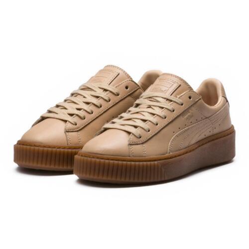 Veg Scarpe Puma Donna Pelle Natural Tan Sneakers Vachetta Platform Wn's 120 € 5nTZxHn