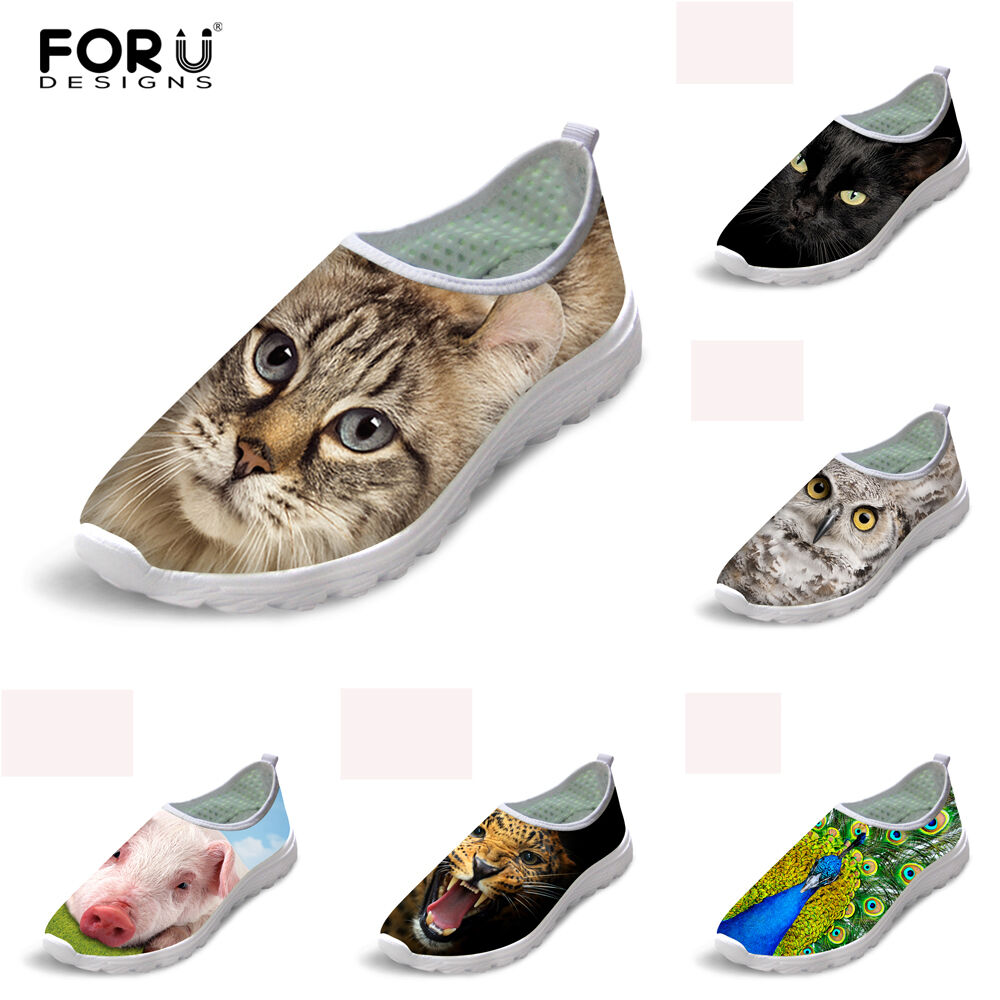 Fashion Shoes Women Ladies Animal Running Shoes Fashion Mesh Breathable Lightweight Sneaker a1d9bd