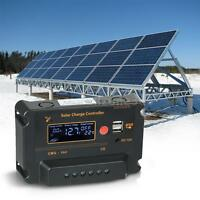 30A PWM Solar Charge Controller For Solar Charging Auto Protection 12V/24V B2D0