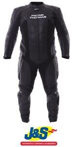 Frank-Thomas-FTL327-Kinetik-Race-Suit-1-Piece-Leather-Black-WAS-349-99-J-amp-S-SALE