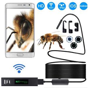 1200P-FULL-HD-Wi-Fi-8LED-Endoscope-Ispezione-Videocamera-per-Android-iPhone