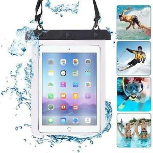 Tablet-Universal-Impermeable-Seco-Bolso-Estuche-Bolsa-en-Negro-para-modelos-10-034-Motorola