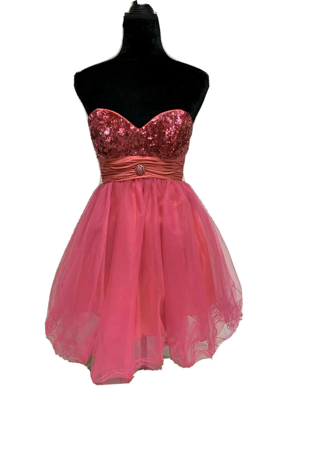 Size 4 Hot Pink Prom Party Homecoming Pageant Formal Bridesmaid Cocktail Dress