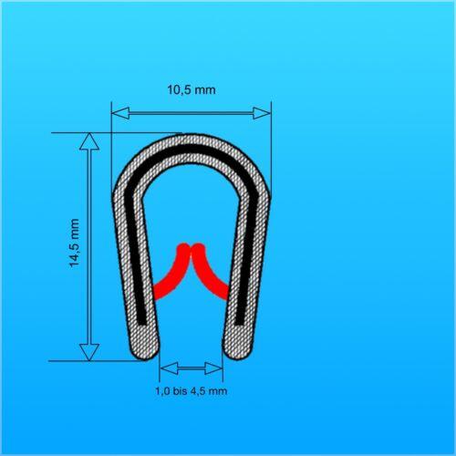 10 m Kantenschutzprofil KB1-4mm 10x14mm Kantenschutz Kederband