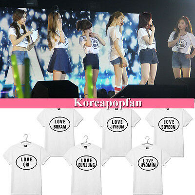 T-ARA COTTON Tara T-shirt BORAM EUNJUNG QRI SOYEON HYOMIN JIYEON Kpop New