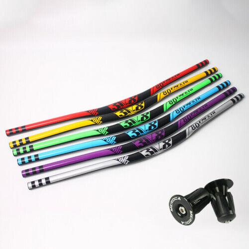 Downhill//MTB Bike Handlebar 31.8*780mm Aluminum Alloy 18mm Riser Bar Lightweight