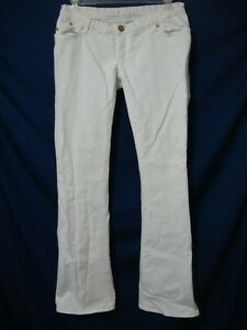 b1786503e6125 Rock & Republic Tyler Maternity Jeans 29 All White Stretch Denim ...