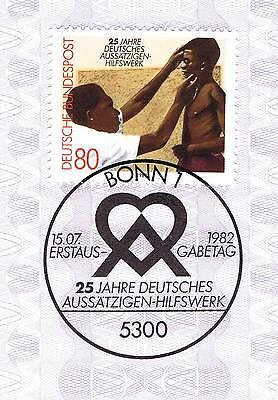 Ausdauernd Brd 1982: Deutsches Aussätzigen-hilfswerk Nr. 1146 Bonner Sonderstempel! 1a! 155