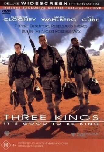 1 of 1 - Three Kings - DVD LIKE NEW FREE POSTAGE AUSTRALIA WIDE REGION 4