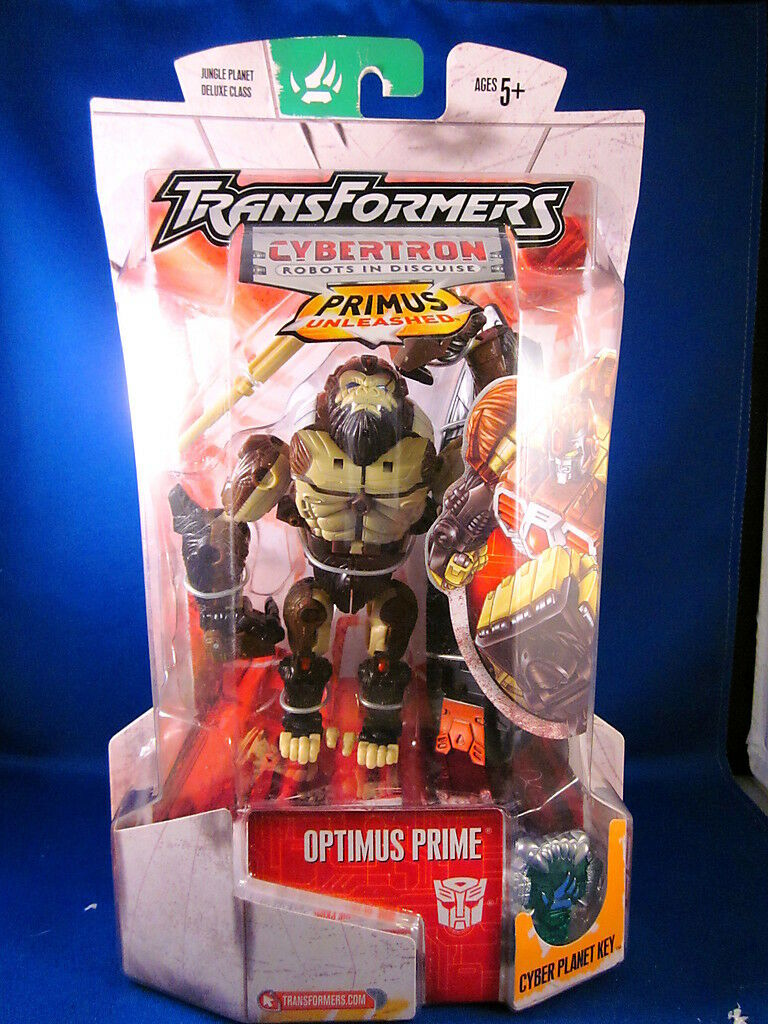 Transformers Optimus Prime Jungle Planète de Luxe Classe Figurine Articulée