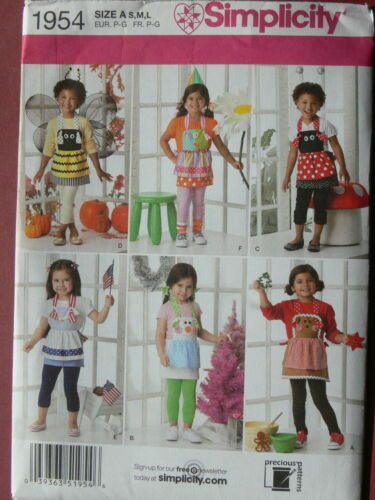 Simplicity Pattern 1954 Childrens Costume Aprons holidays ladybug bees