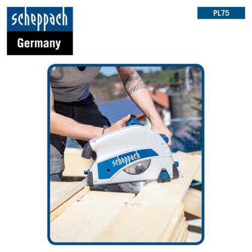 Scheppach Tauchsäge PL75 1600W 75mm Schnitttiefe inkl Kippschutzriegel