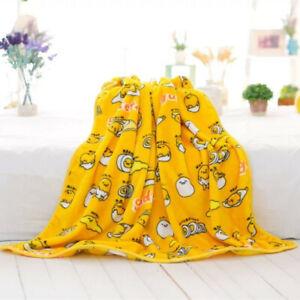 Cartoon-Gudetama-Warm-Flannel-Blanket-Soft-Pillow-Cover-Girl-Bedding-Plush-Rug