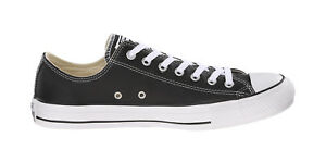 Converse Shoes Chuck Taylor All Star Low Top Black Leather Mens ... b7bf38975