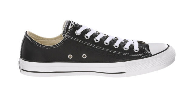c1eb20bc4dc1 Converse Shoes Chuck Taylor All Star Low Top Black Leather Mens Womens  Sneakers