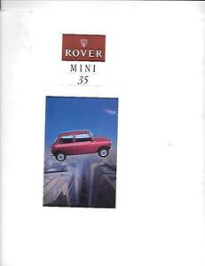 ROVER-MINI-35-SPECIAL-EDITION-SALES-BROCHURE-FOR-1994