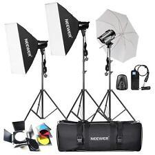 540W 180W x3 Professional Photography Studio Flash Strobe Light Kit Portrait