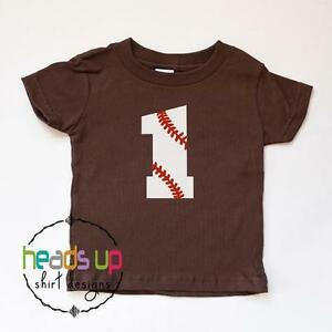 Image Is Loading 1st Birthday Shirt Baseball Baby Boy Girl First