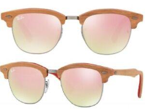 Ray-Ban-de-gafas-de-sol-rb3016-m-12197o-51mm-club-master-Wood-efecto-espejo-Bf-f4-H