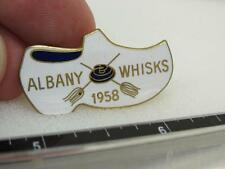Albany Whisks Curling 1958 Award Pin Shoe Clog  (17D1)