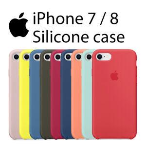 aa371a14c3f La imagen se está cargando Funda-SILICONA-logo-manzana-para-iPHONE-7-8-