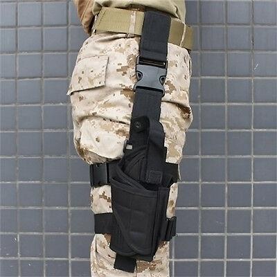 Tactical Pistol Gun Drop Bag Puttee Leg Thigh Holster Pouch Holder Adjustable