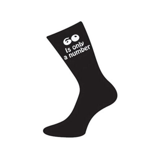 60 è solo un numero Stampato Design Mens Black Sock Grande sessantesimo compleanno regalo