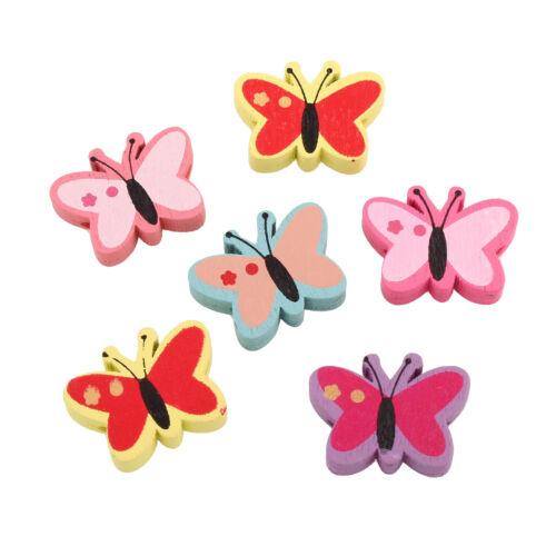 Madera perlas niños cadenas para chupetes saliva mariposa 22mm Best h143